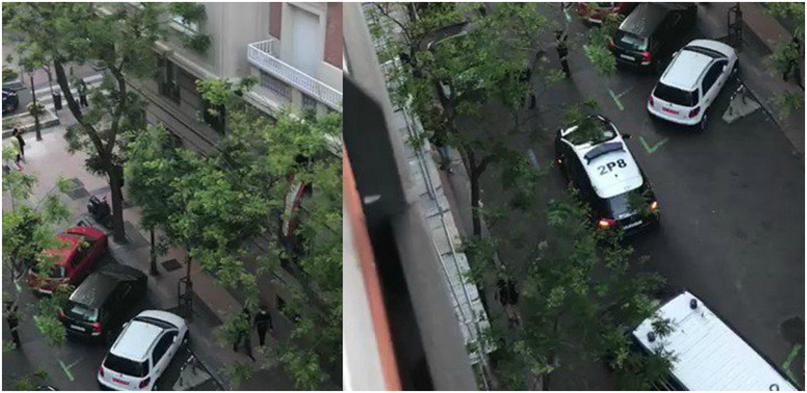 Ayer domingo la policía llegó a acudir a la calle Núñez de Balboa para intimidar a la gente.