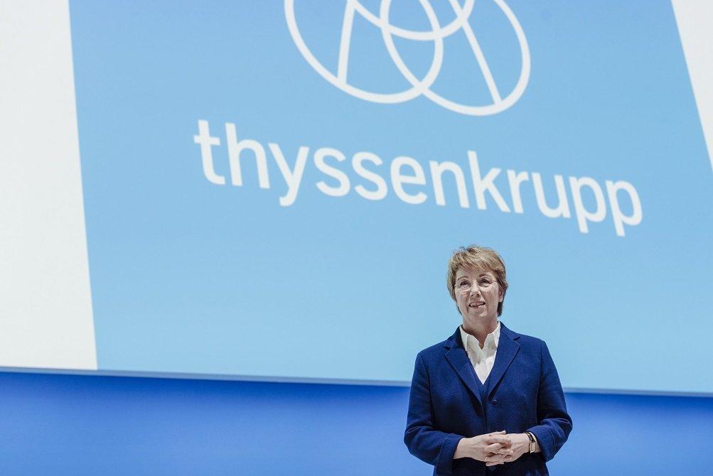 Martina Merz, CEO de la multinacional siderúrgica alemana Thyssenkrupp