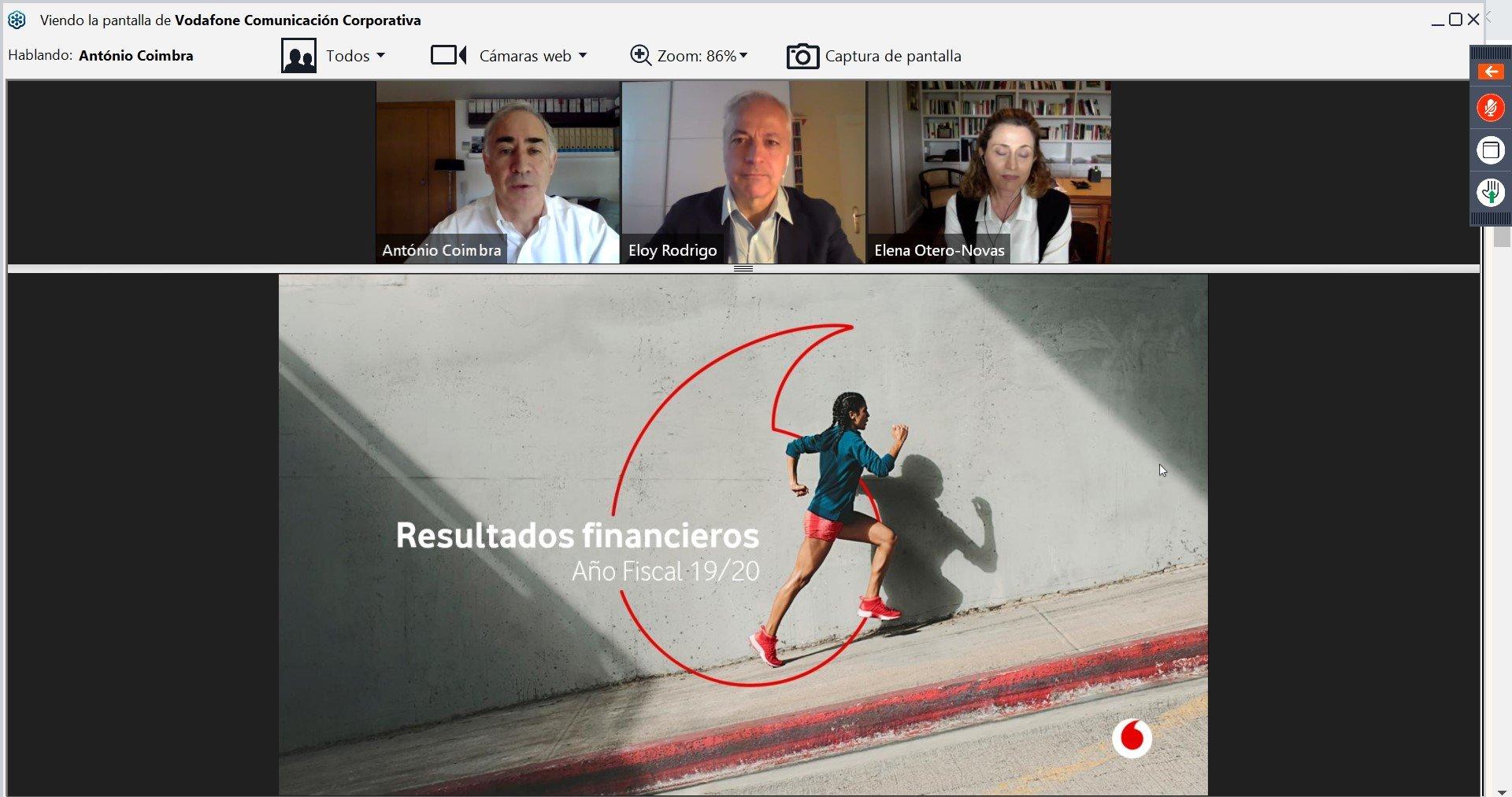 Presentación telemática de resultados de Vodafone España