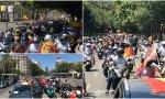 Manifestación con coches y motos, convocada por el Foro Baleares de Sánchez-Terán