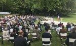 Macron en los anuncios que ha hecho ante la convención ciudadana para el clima en el jardín del Elíseo