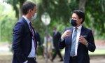 Sánchez y Conte durante la visita a España del primer ministro italiano