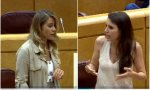 """Caso Dina. Pregunta directa de Sofía Acedo (PP) a Irene Montero""""¿El control a través del móvil es violencia machista, sí o no? Respuesta de la ministra: """"dónde vas, manzanas traigo"""""""
