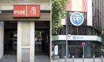 Las respectivas sedes centrales de PSOE y PP, en las madrileñas calles de Ferraz y Génova