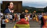 Pablo Iglesias denuncia a su 'escracheador' por delito... contra el medio ambiente. Es que le hizo escuchar el 'Viva España' de Manolo Escobar