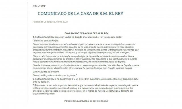 Carta Juan Carlos I a Felipe VI ok