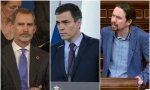 Los responsables de la marcha forzada de Juan Carlos I son: Felipe VI, Pedro Sánchez, Pablo Iglesias. Por ese orden