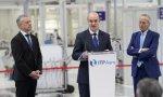El lehendakari Urkullu junto al CEO y al presidente de ITP Aero, Carlos Alzola y Josep Piqué