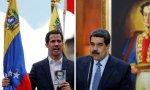 El opositor venezolano Juan Guaidó y el dictador Nicolás Maduro