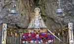 Virgen de Covadonga en su cueva. Allí empezó la Reconquista y la evangelización de América