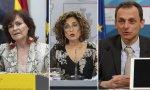 Calvo, Montero y Duque, en la rueda de prensa donde se ha hablado de tres leyes para el rencor