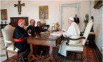 Omella, Osoro y el secretario general de la CEE, Arguello, se reúnen con el papa Francisco