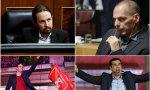 Iglesias, Varufakis, Sánchez y Tsipras