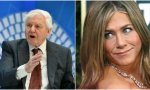 El agonías David Attenborough aplasta a Jennifer -Aniston-