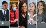 Sánchez y sus cuatro vicepresidentes