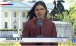 Cristina Olea, corresponsal de RTVE en Washington, sospecha que el patógeno esparcidor de virus por todo Estados Unidos es el propio Donald Trump