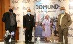 El director nacional de OMP España, José María Calderón; el Nuncio Apostólico en España, Bernardito Auza; y Enrique Rosich, misionero comboniano en Chad
