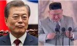 El presidente de Corea del Sur, Moon Jae in, y del norte, Kim Jong un