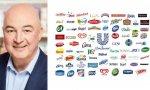 Alan Jope, CEO de la multinacional anglo-holandesa Unilever, y algunas de sus marcas