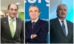 Galán, Reynés y Bogas, los primeros ejecutivos de Iberdrola, Naturgy y Endesa, respectivamente