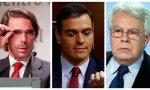 González y Aznar intentan, otra vez, que Sánchez rompa con Podemos.