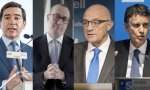 Carlos Torres, Onur Genç, Josep Oliu y Jaime Guardiola
