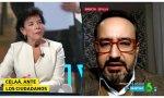 Celaá escucha la pregunta del presidente de 'Masplurales', Jesús Múñoz de Priego