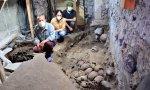 Torre circular de cráneos humanos dedicada al dios mexica Huitzilopochtli. Muy delicados estos aztecas.