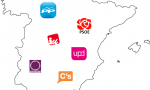 Eslóganes electorales. PP y PSOE se anclan en el bipartidismo, mientras IU, Podemos y Ciudadanos se confabulan para tumbarlo