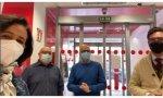 Santander. Ana Botín visita las sucursales del banco en Madrid tras la nevada