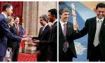 Larry Page, cofundador de Google, y Nikesh Arora, vicepresidente de Google INC., recogen el Premio Príncipe de Asturias a Google en 2008