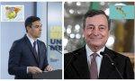 Draghi versus Sánchez. Don Mario lanza una política económica opuesta a la de Moncloa: bajar impuestos, reducir subvenciones y reindustrializar Italia