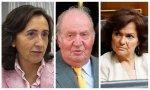 Rosa Aguilar, Juan Carlos I, Carmen Calvo