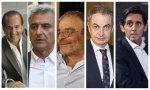 Contreras, Barroso, De Paz, Zapatero y Pallete