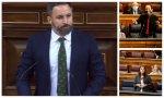 """Santiago Abascal acusa a Iglesias de de cobrar por ver series y a la ministra de Igualdad, Irene Montero, de """"adicta a la telebasura"""""""