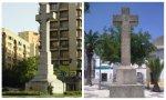 Cruz de la Plaza de América en Cáceres y Cruz del municipio de El Casar