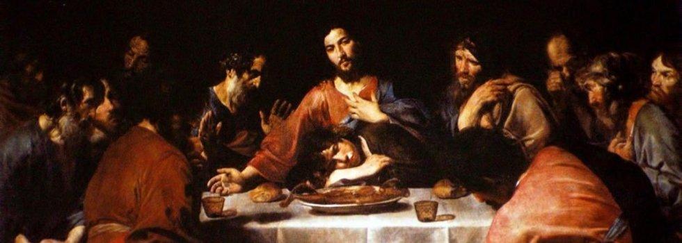 La Última Cena, donde se instauró la Eucaristía, pintada por Valentin de Boulogne