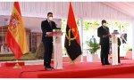 El presidente del Gobierno, Pedro Sánchez, y el presidente de la República de Angola, João Lourenço,