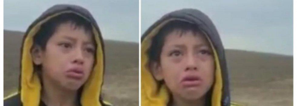 Niño nicaragüense abandonado en la frontera con EE.UU.