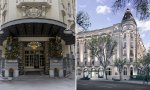 El Palace y el Ritz, dos vecinos icónicos de la madrileña plaza de Cánovas del Castillo, donde se encuentra la fuente de Neptuno, se dedican a lo mismo, pero su realidad es bien distinta