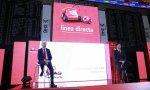 Miguel Ángel Merino y Carlos Rodríguez durante la presentación bursátil de Línea Directa
