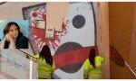 Inmaculada forma al servicio de limpieza: los murales de los edificios okupados no se borran... son libertad de expresión