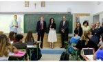 Díaz Ayuso en un colegio