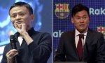 Jack Ma, fundador de Alibaba, e Hiroshi Mikitani, presidente y CEO de Rakuten, que es el principal patrocinador del Fútbol Club Barcelona