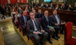 Los lideres independentistas acusados por el proces en la sala del juicio del Tribunal Supremo