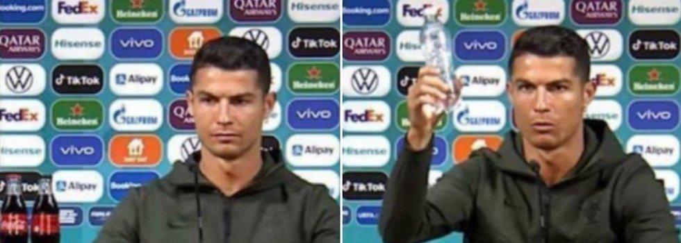 Cristiano Ronaldo y su 'cocacolafobia', le sale cara a la denominada marca de la felicidad