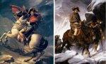 Las dos versiones de Napoleón cruzando los Alpes: la falsa que pintó Jacques Louis David y la verdadera que pintó Paul Delaroche