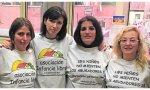 De dcha. a izda. Maria (2ª) y Patricia (4ª), dos de las condenadas de la asociación Infancia Libre