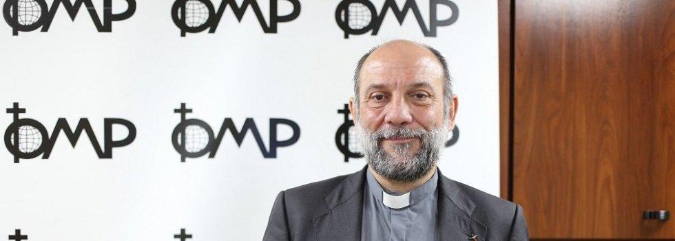 """El director nacional de OMP, el padre José María Calderón, afirma que """"en la situación concreta de la pandemia de la Covid-19, estando encerrados, me doy con un canto en los dientes este año"""""""