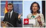 El PP hace llegar su malestar a Ana Botín por su apoyo al Gobierno